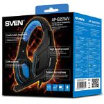 Наушники Sven AP-G851MV игровые, с микрофоном, чёрно-синий